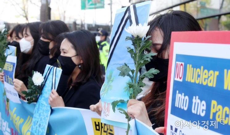 [포토] 한국YWCA, 후쿠시마 오염수 방류 결정 규탄 기자회견