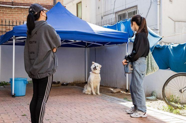 이달 진행된 '찾아가는 동물훈련사'