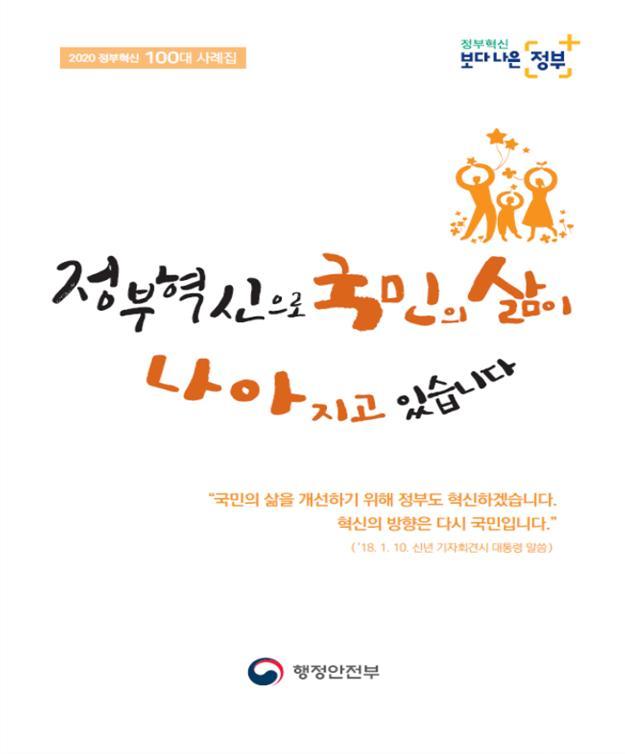 행안부, '2020 정부혁신 100대 사례집' 발간