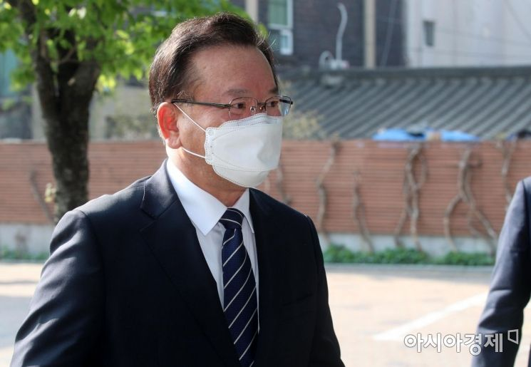 [포토] 출근하는 김부겸 총리 후보자