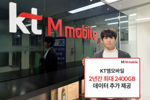KT엠모바일, 데이득 프로모션 연장…월최대 100GB 무료
