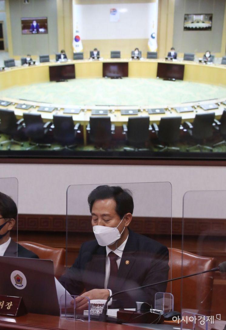 [포토] 국무회의 참석한 오세훈 서울시장