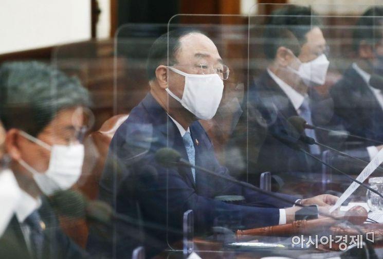 [포토] 국무회의 주재하는 홍남기 총리 직무대행