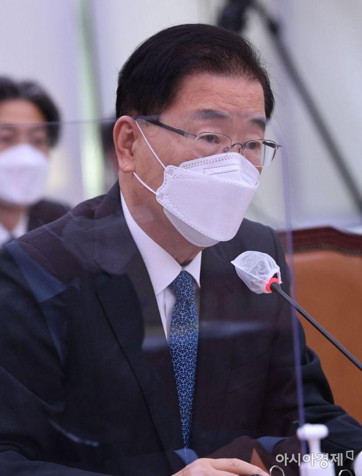 """정의용 """"北 GP총격 절제됐다"""" 논란… 외교부 """"적절한 용어 아니었다"""""""