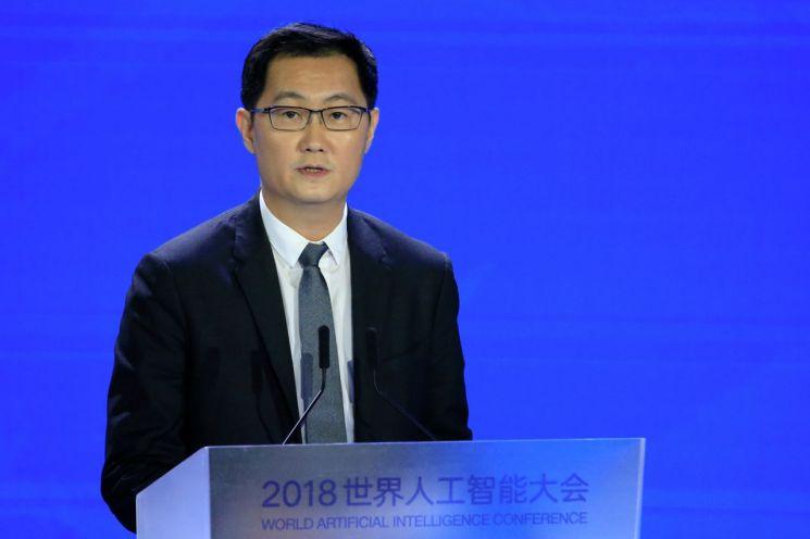 중국 IT 기업 텐센트의 마화텅 회장 [이미지출처=로이터연합뉴스]