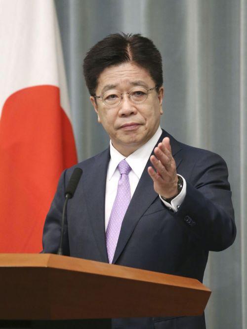 ▲가토 가쓰노부 일본 관방 장관 [이미지출처=연합뉴스]
