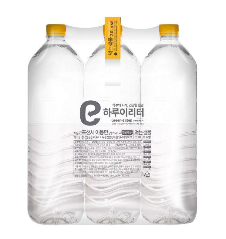 이마트24가 자체브랜드(PB) 생수 하루이리터 2L 6입 번들 제품을 무라벨로 출시한다.
