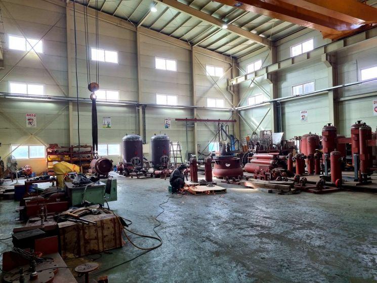 경기 김포에 위치한 한 중소 제조업체의 공장. [사진 = 이준형 기자]