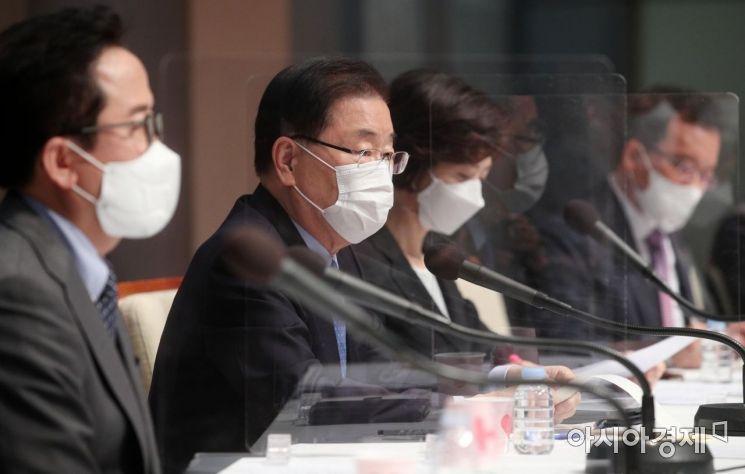 [포토] 기조 발언하는 정의용 외교부 장관