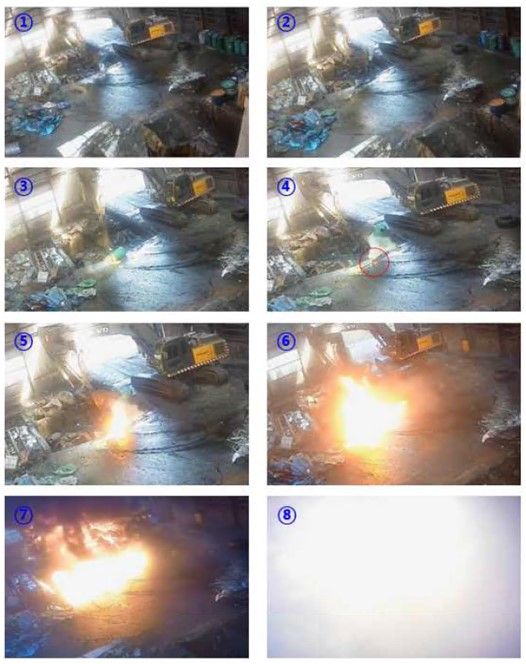 화재·폭발 사고현장 사진. [이미지출처=안전보건공단]