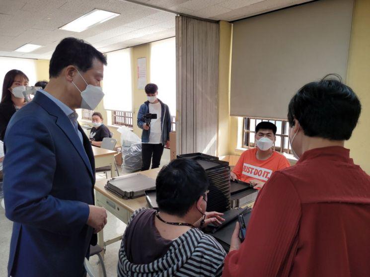 [포토]이승로 성북구청장 장애인의 날을 맞아 소통과 공감 시간 보내