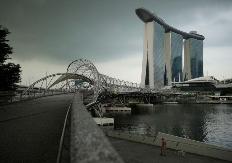 싱가포르의 마리나베이샌즈 호텔 전경 [이미지출처=로이터연합뉴스]