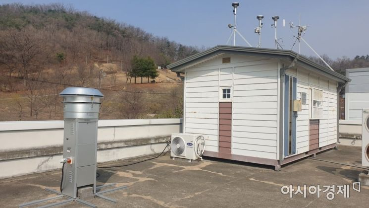 경북도 보건환경연구원 대기측정소 모습.
