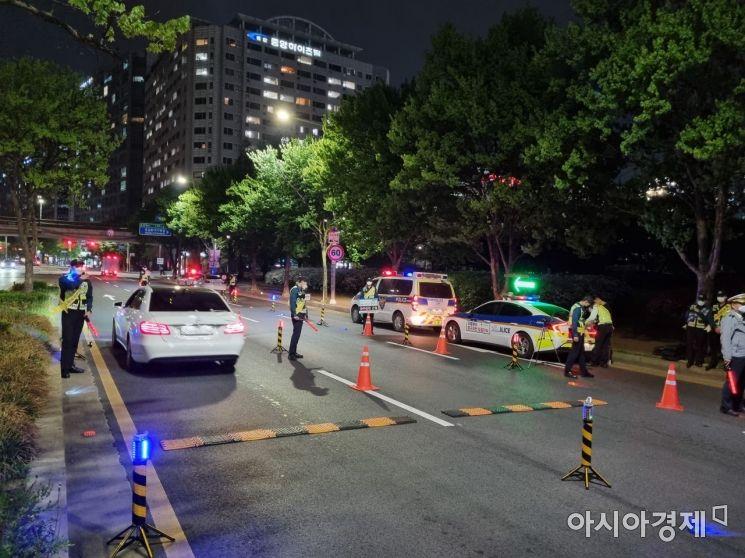 일산동구 음주운전 단속 현장 [경기북부경찰청 제공]