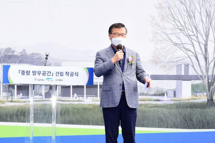 [포토]Asiste a la ceremonia de inauguración de la construcción del 'Espacio Jungnang Mangwoo'