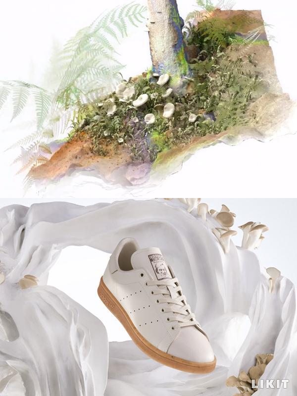 버섯 균사체를 이용해 만든 운동화 '스탠 스미스 마일로'. ⓒ아디다스