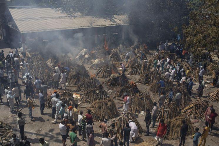 코로나19가 크게 확산한 인도에서 최근 치사율 50%에 달하는 '검은 곰팡이증(털곰팡이증)'까지 급속도로 번지며 상황이 더욱 악화하고 있다. [이미지출처=연합뉴스]