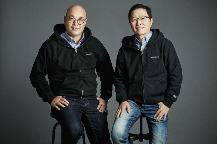 남궁훈 카카오게임즈(왼쪽), 조계현(오른쪽) 대표.