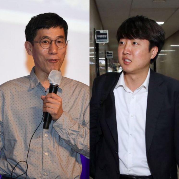 진중권 전 동양대 교수(좌)와 이준석 전 국민의힘 최고위원(우). [이미지출처=연합뉴스]