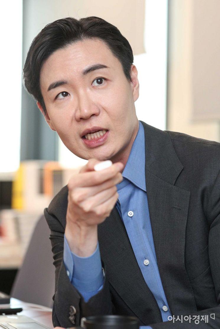 유정범 메쉬코리아 대표가 6일 서울 강남구 다봉타워빌딩에서 인터뷰하고 있다./강진형 기자aymsdream@