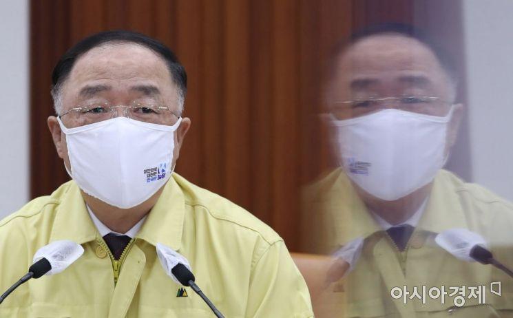 [포토] 모두 발언하는 홍남기 총리 권한대행