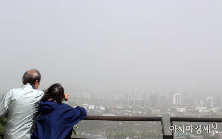 [포토] 전국 황사 영향…서울 미세먼지 주의보