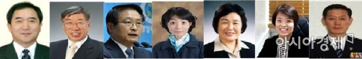 사진 왼쪽으로부터 이순동 위원장을 비롯해 금태환·이주석·윤경희·이순자·박현민·서진교 위원.