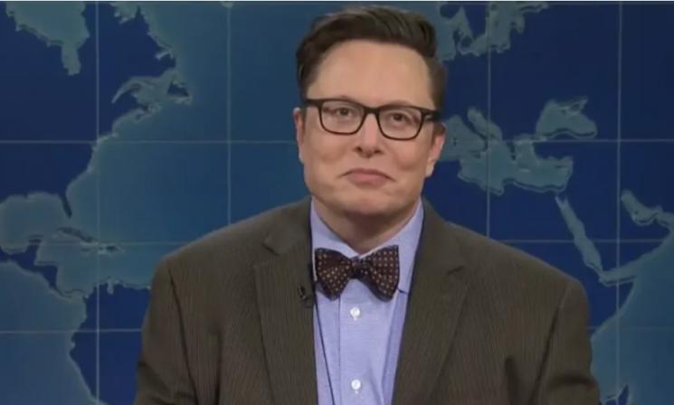 일론 머스크 테슬라 CEO가 가상화폐 전문가 역으로 SNL에 출연하고 있다.(유튜브 캡처)