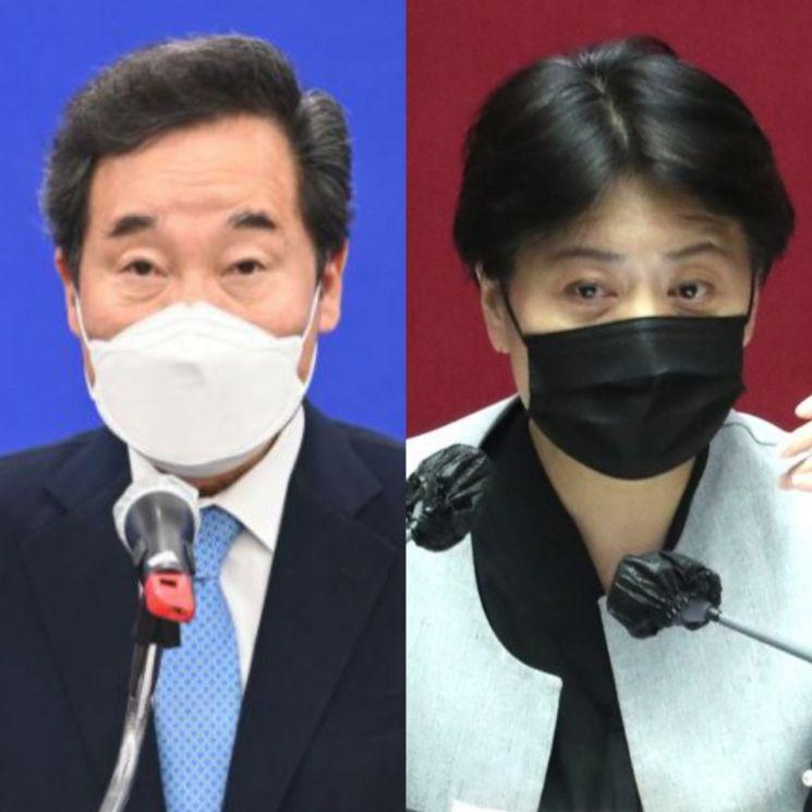 이낙연 전 더불어민주당 대표(좌)와 윤희숙 국민의힘 의원(우). [이미지출처=연합뉴스]