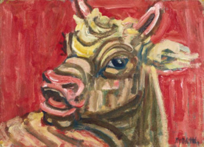 국민작가 이중섭(1916~1956)의 가장 유명한 작품 '황소'가 국립현대미술관 컬렉션에 포함됐다. 이 작품(이중섭, 황소, 1950년대, 26.4×38.7cm)은 고 이건희 회장 기증품이다. [이미지출처=국립현대미술관]
