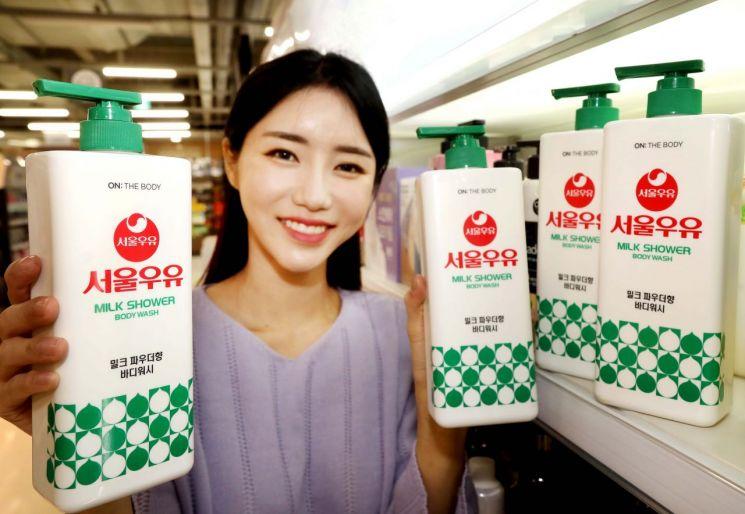 홈플러스에서 판매하는 서울우유 바디워시.