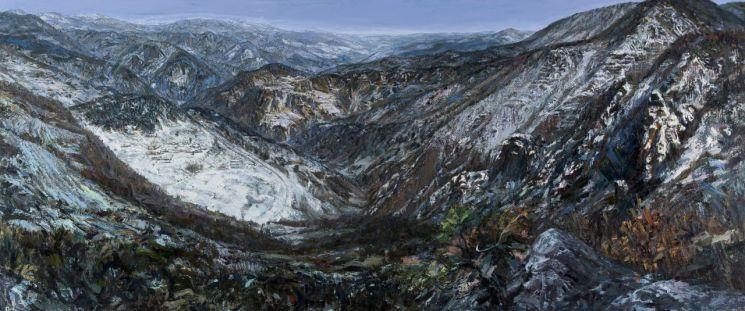 황재형, 백두대간, 1993~2004, 캔버스에 유채, 206.5x496cm.(사진제공=국립현대미술관)