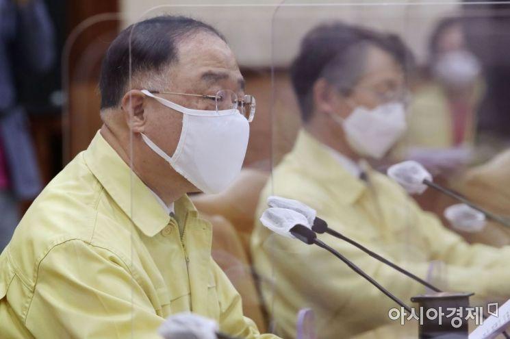 [포토] 발언하는 홍남기 총리 직무대행