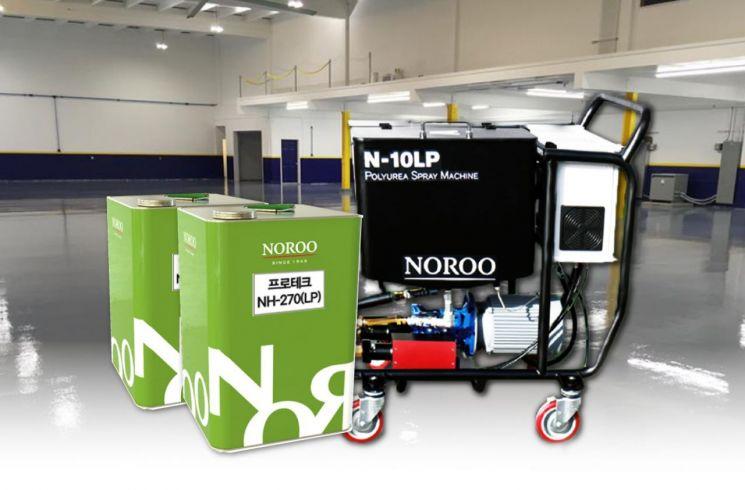 노루페인트 프로테크 NH-270(LP)및 전용 장비 프로테크 N-10LP. [사진제공=노루페인트]