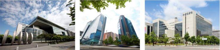 (왼쪽부터) 서울 여의도 한국수출입은행, 서울 을지로 IBK기업은행, 서울 여의도 KDB산업은행 본점 모습.