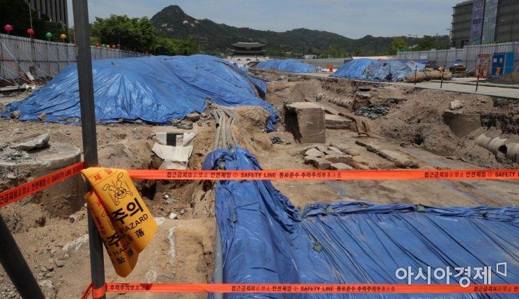[포토] 서울시, 광화문광장 육조거리 발굴 현장, 21일부터 일반인 공개