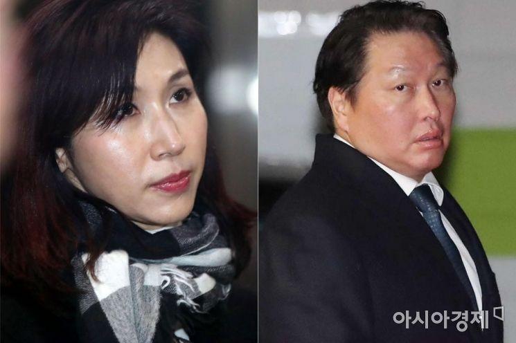 노소영 아트센터 나비 관장(좌)과 최태원 SK 회장(우).