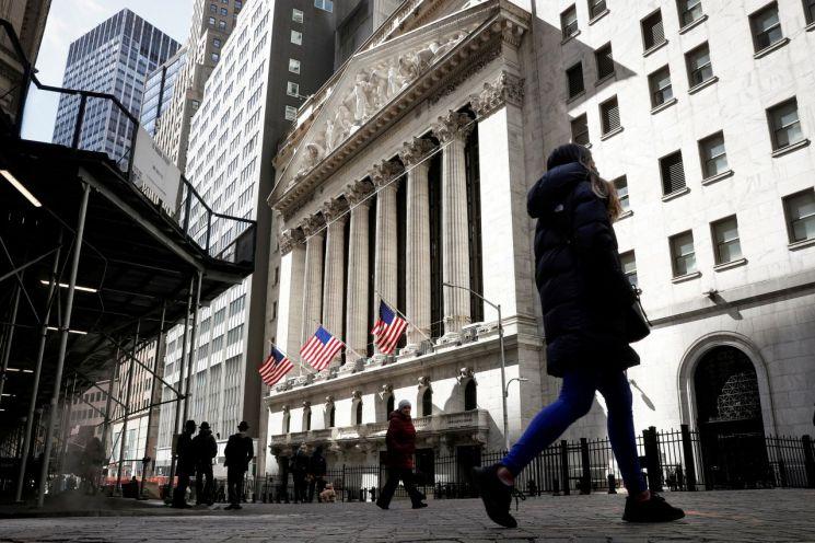 미국 뉴욕 월가에 있는 뉴욕증권거래소(NYSE) [이미지출처=연합뉴스]