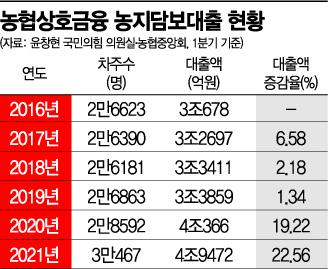 (자료: 윤창현 국민의힘 의원실, 농협중앙회 상호금융여신지원부)