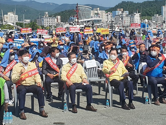 [포토] 완도군, 일본 방사능 오염수 방류 규탄대회