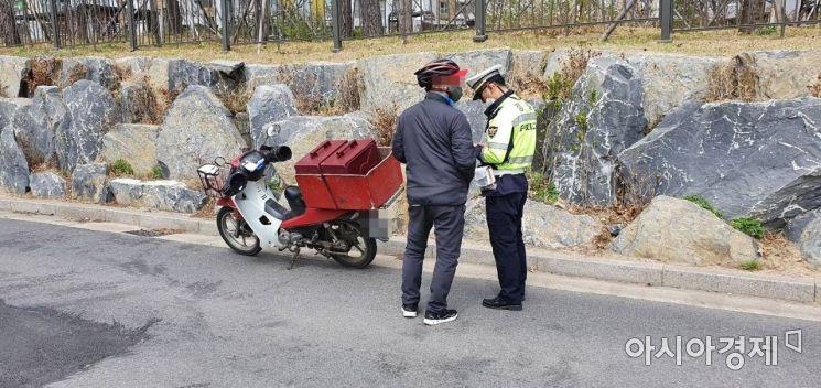 배달 오토바이 법규 위반 단속 [경기북부경찰청 제공]