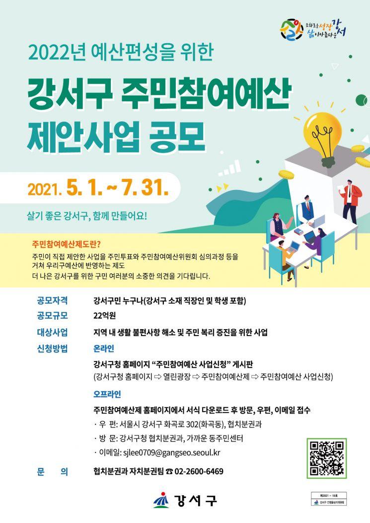 서울 강서구, 22억 규모 2022년 주민참여예산 제안 사업 공모