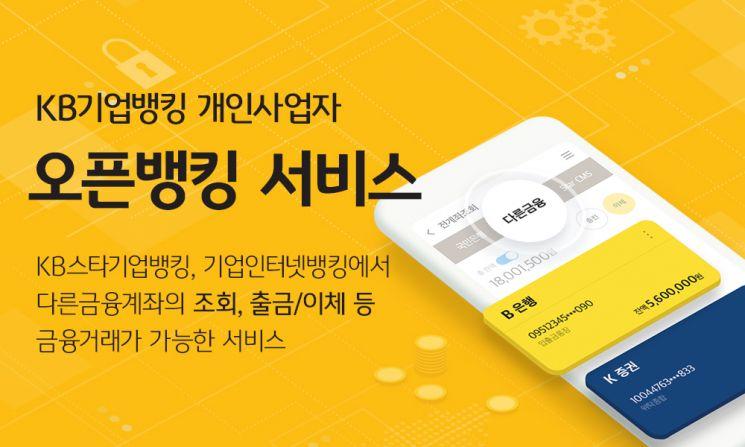 KB국민은행, 개인사업자 오픈뱅킹 서비스 시행