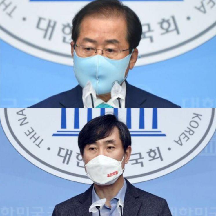 홍준표 무소속 의원(위)과 하태경 국민의힘 의원(아래). [이미지출처=연합뉴스]