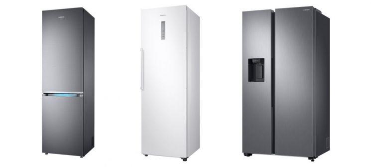 독일 스티바, 스웨덴 라드앤론, 이탈리아 알트로콘수모 등 유럽 주요 지역 소비자 전문지 평가에서 각각 1위를 차지한 삼성 냉장고 제품들[사진제공=삼성전자]