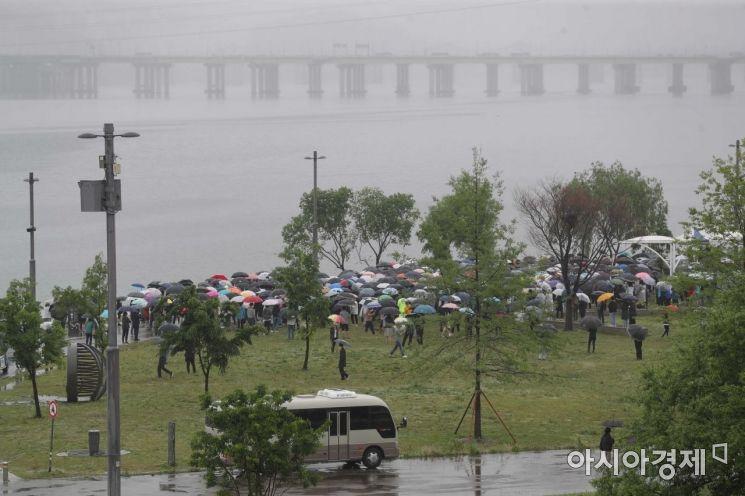 [포토]반포한강에서 열린 고 손정민 군을 위한 평화집회