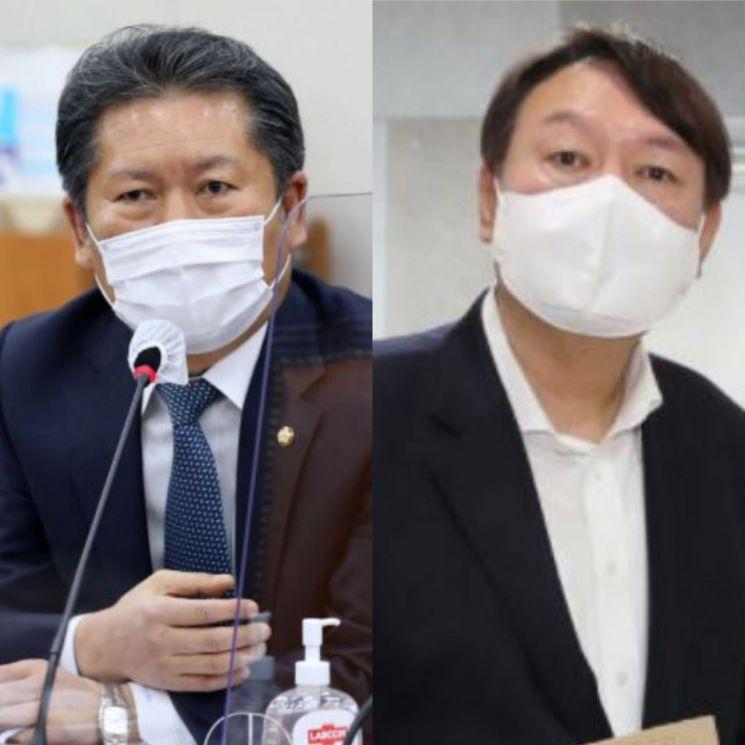 정청래 더불어민주당 의원(좌)과 윤석열 전 검찰총장(우). [이미지출처=연합뉴스]