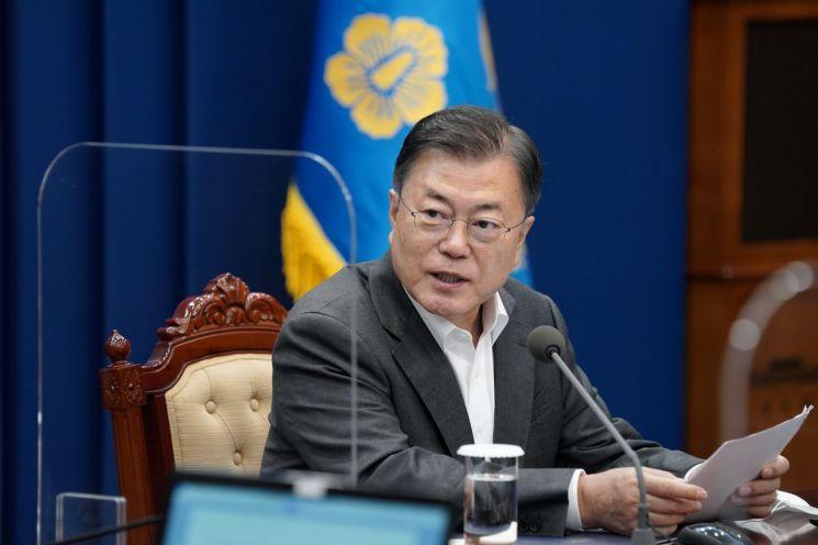 수보회의 주재하는 문재인 대통령. [이미지출처=연합뉴스]
