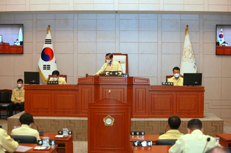 고흥군의회, 코로나19 대응 위해 임시회 축소 운영