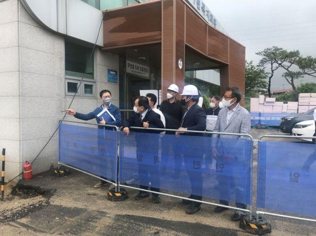 영광군 '농촌중심지 활성화사업' 건설현장 점검